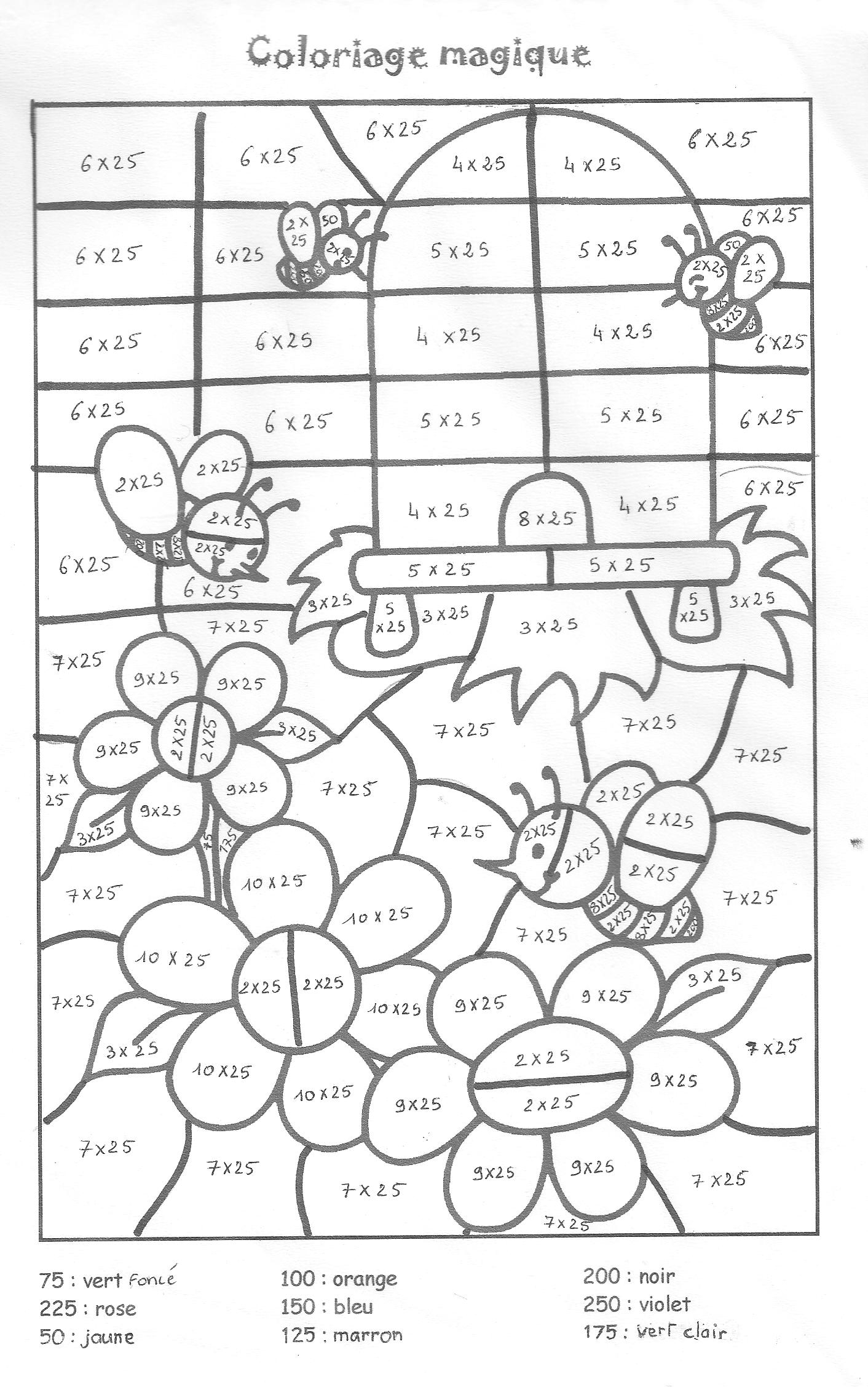 coloring pages for multiplication tables - photo#9
